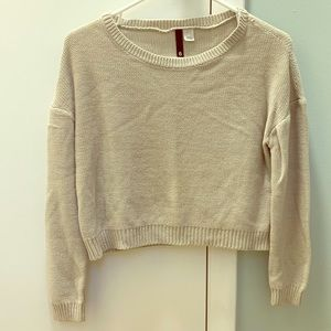 H&M Cropped Oversized Sweater